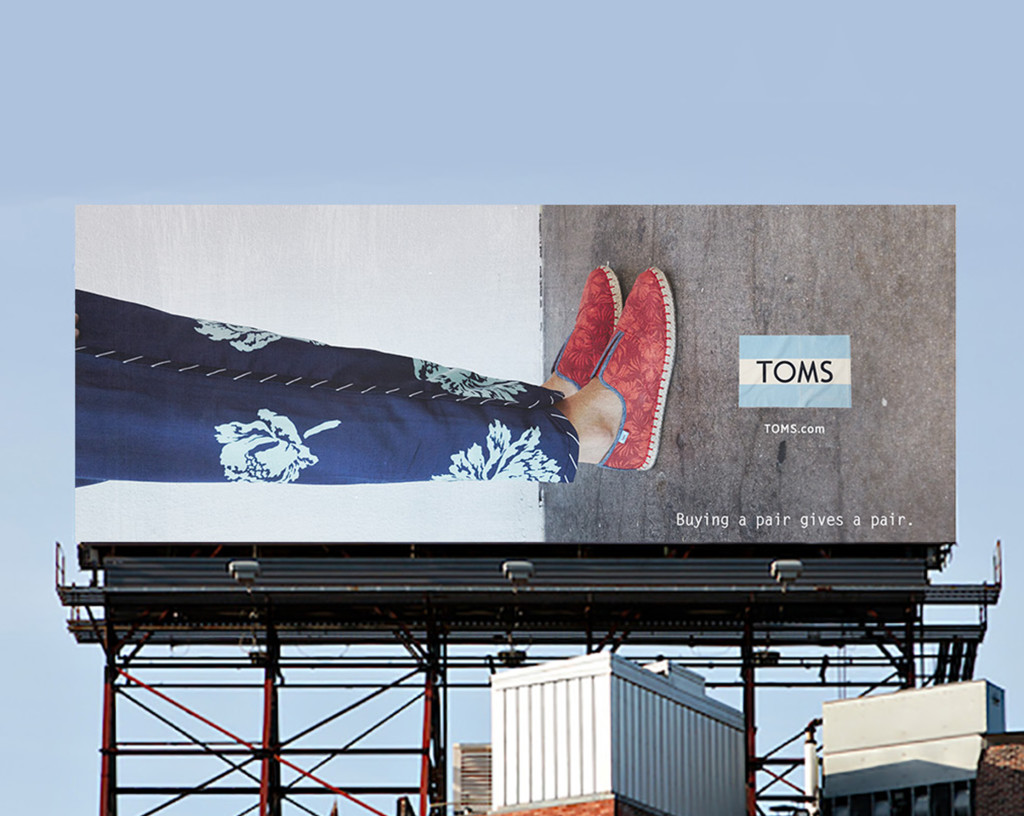 creative direction, branding, billboard, advertising, TOMS