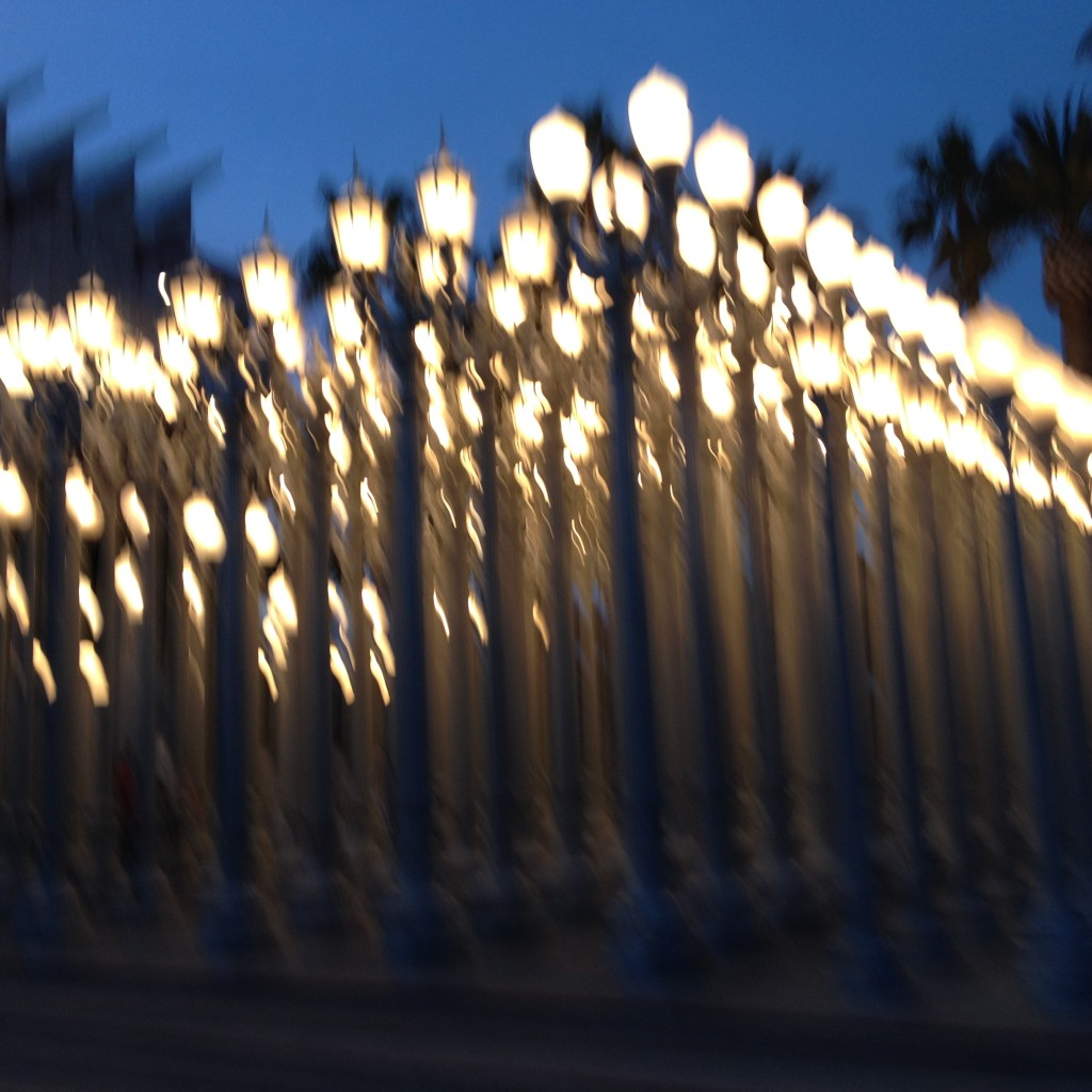 wilshire, los angeles, LACMA, chris burden, light installation, los angeles county museum of art