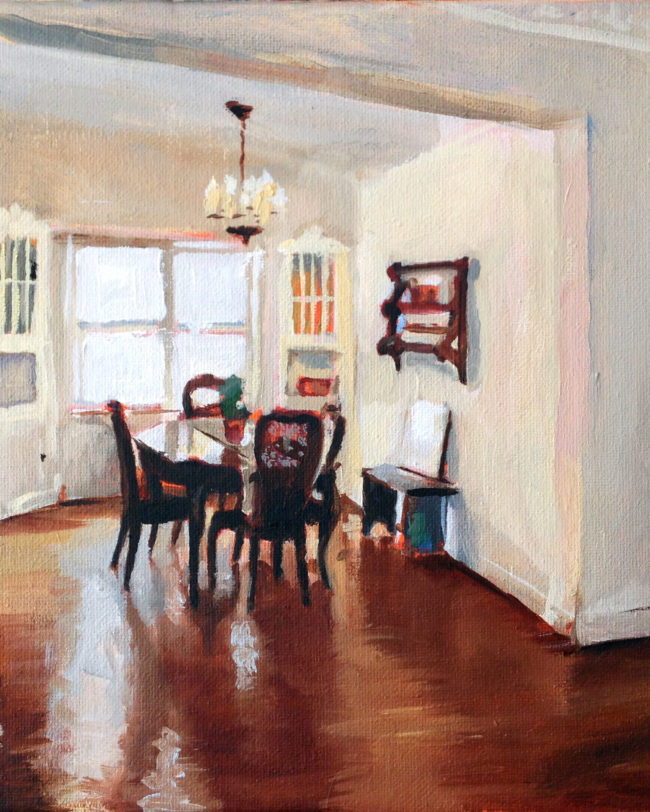 interior, oil painting, fine art, dining room, home, house, living room